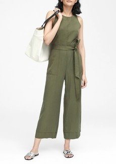 Banana Republic TENCEL™ Cropped Wide-Leg Jumpsuit