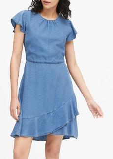Banana Republic TENCEL&#153 Flutter-Sleeve Mini Dress