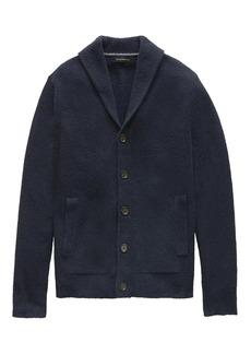 Banana Republic Terry-Knit Shawl-Collar Cardigan Sweater