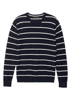 Banana Republic Textured Cotton Stripe Crew-Neck Sweater
