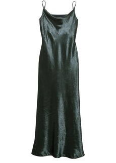 Banana Republic Textured Satin Bias-Cut Maxi Slip Dress