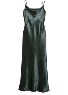 Textured Satin Bias-Cut Maxi Slip Dress