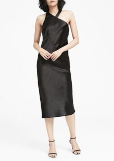Banana Republic Textured Satin Racerback Dress