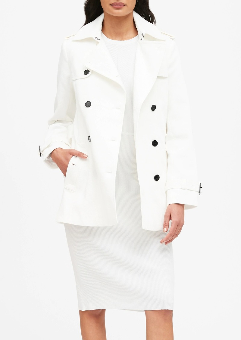 Banana Republic Textured Short Trench Coat