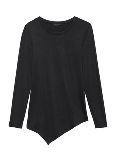 Banana Republic Threadsoft Asymmetrical-Hem Top