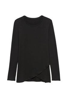 Banana Republic Threadsoft Cross-Front T-Shirt