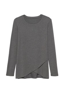 Banana Republic Threadsoft Cross-Front T-Shirt