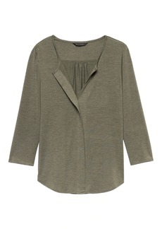 Banana Republic Threadsoft Split-Neck Top