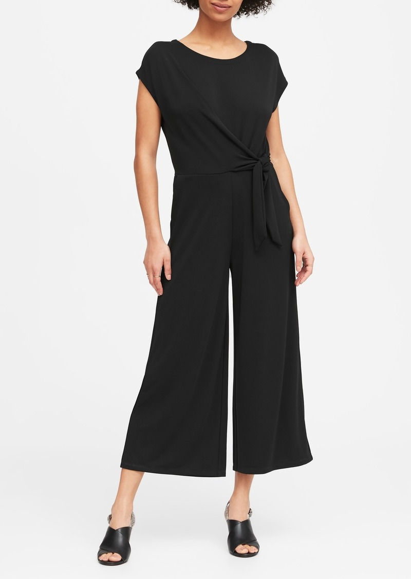 Banana Republic Tie-Front Cropped Jumpsuit