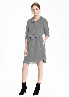 Tie-Neck Shirtdress