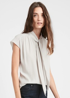 Banana Republic Tie-Neck Top