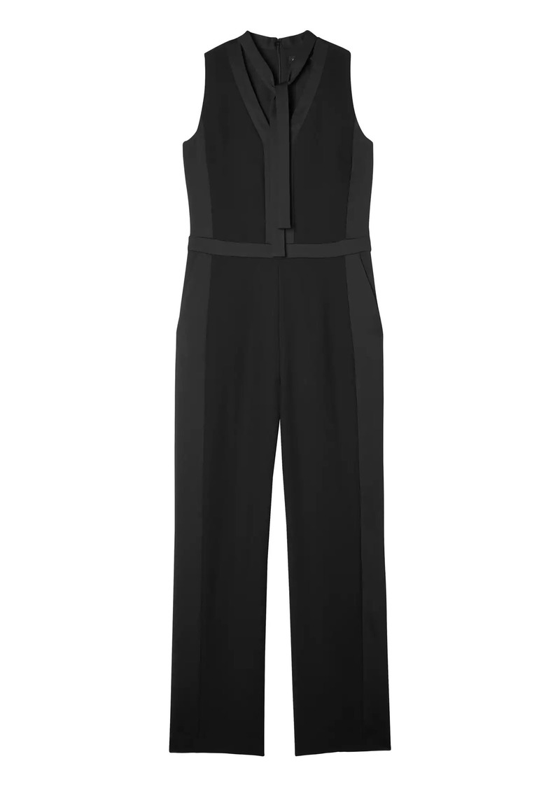 8d9e3029830 SALE! Banana Republic Tie-Neck Tuxedo Jumpsuit