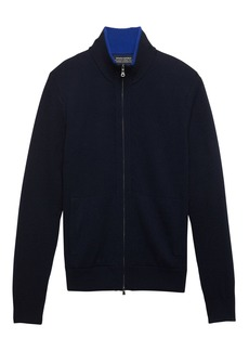 Banana Republic Todd & Duncan Cashmere Full-Zip Sweater Jacket