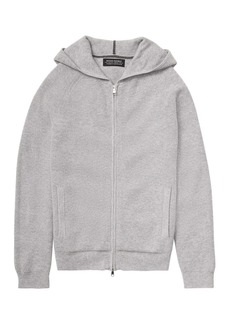 Banana Republic Todd & Duncan Waffle-Knit Full-Zip Sweater Hoodie