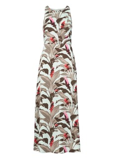 Banana Republic Tropical Fit-and-Flare Maxi Dress