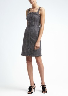 Tweed Button-Front Dress
