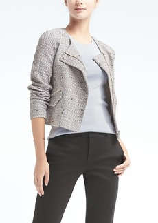 Banana Republic Tweed Crop Moto Jacket