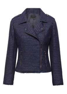 Banana Republic Tweed Moto Jacket