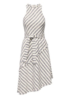Banana Republic Tweed Stripe Asymmetrical-Hem Dress