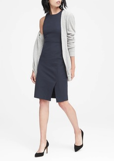 Banana Republic Twill Racer-Neck Sheath Dress