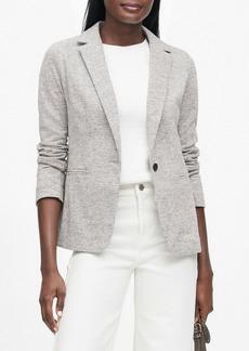 Banana Republic Unstructured Wool-Blend Knit Blazer