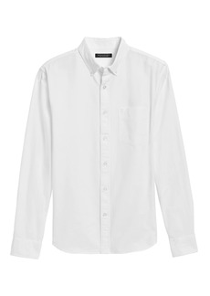 Banana Republic Untucked Slim-Fit Cotton Oxford Shirt