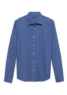 Banana Republic Untucked Slim-Fit Cotton Twill Shirt