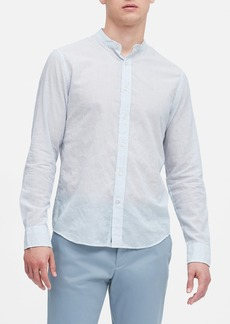 Banana Republic Untucked Slim-Fit Crinkle Cotton Shirt