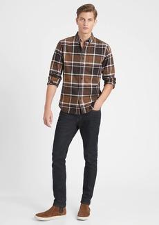 Banana Republic Untucked Slim-Fit Flannel Shirt