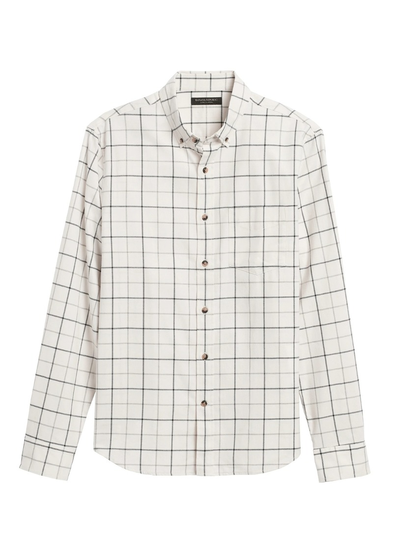 Banana Republic Untucked Slim-Fit Flannel Shirt