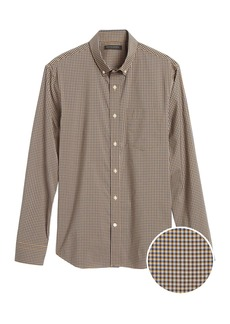 Banana Republic Untucked Slim-Fit Tech-Stretch Cotton Shirt