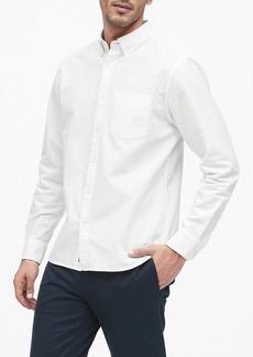Banana Republic Untucked Standard-Fit Cotton Oxford Shirt