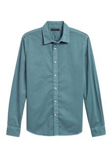 Banana Republic Untucked Standard-Fit Cotton Twill Shirt