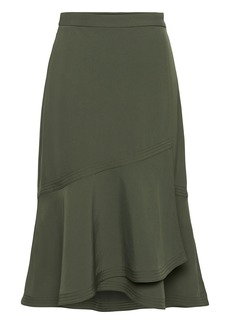 Banana Republic Utility Ruffle-Wrap Skirt