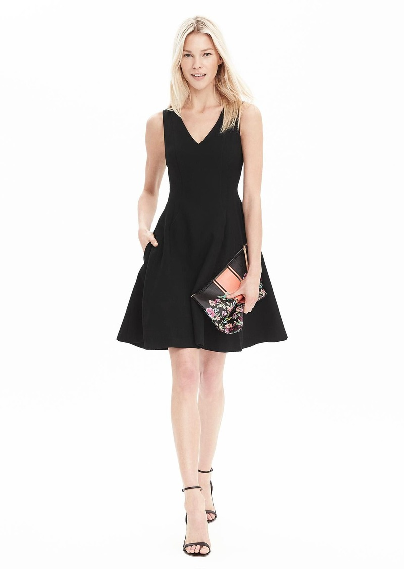 Banana Republic V-Neck Fit-and-Flare Dress