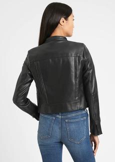 Banana Republic Vegan Leather Biker Jacket