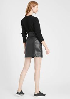 Banana Republic Vegan Leather Utility Mini Skirt