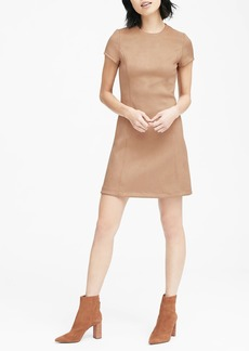 Banana Republic Vegan Stretch-Suede Mini Dress