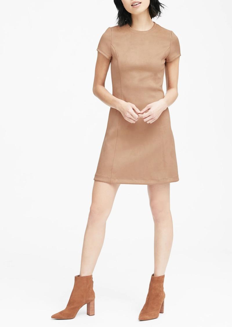 Banana Republic Vegan Stretch-Suede Mini Dress