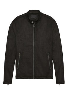 Banana Republic Vegan Stretch-Suede Moto Jacket