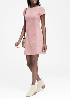 Banana Republic Vegan Stretch-Suede Seamed Mini Dress