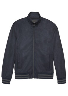 Banana Republic Vegan Stretch-Suede Track Jacket