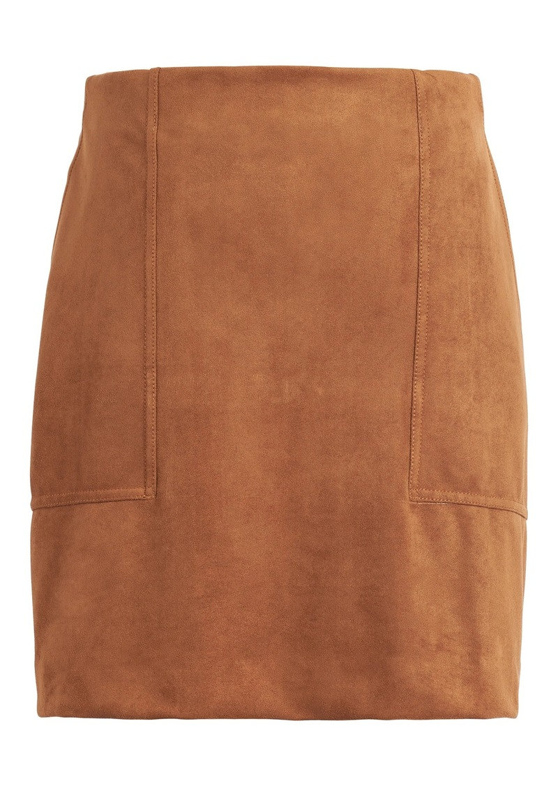 Banana Republic Vegan Suede Mini Skirt