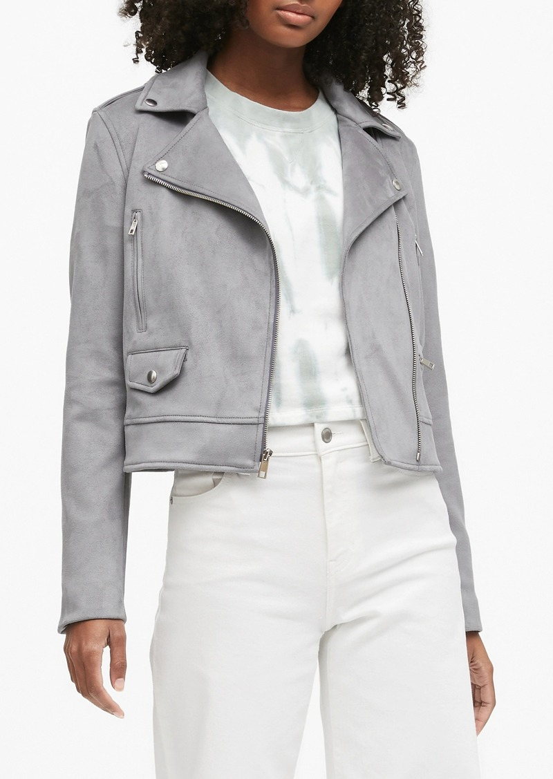 Banana Republic Vegan Suede Moto Jacket