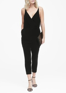 Banana Republic Velvet Cropped Jumpsuit