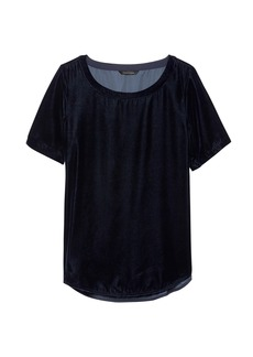 Banana Republic Velvet High-Low Hem Top