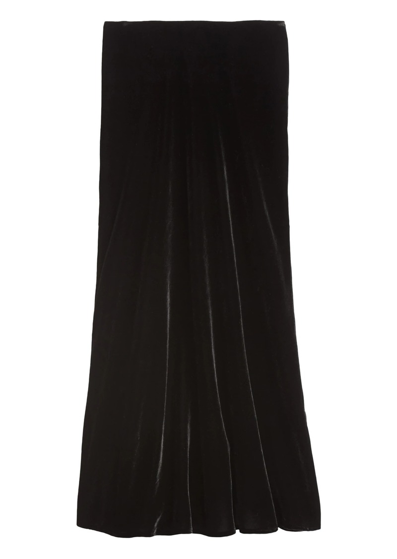 Banana Republic Velvet Midi Slip Skirt