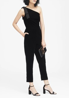 Banana Republic Velvet One-Shoulder Jumpsuit