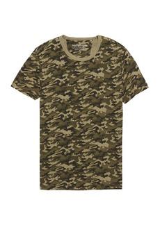 Banana Republic Vintage 100% Cotton Camo Crew-Neck T-Shirt