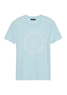 Banana Republic Vintage 100% Cotton Graphic Crew